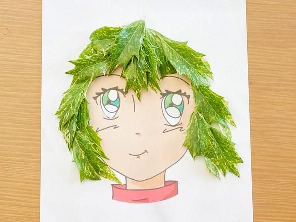 chevelure feuilles