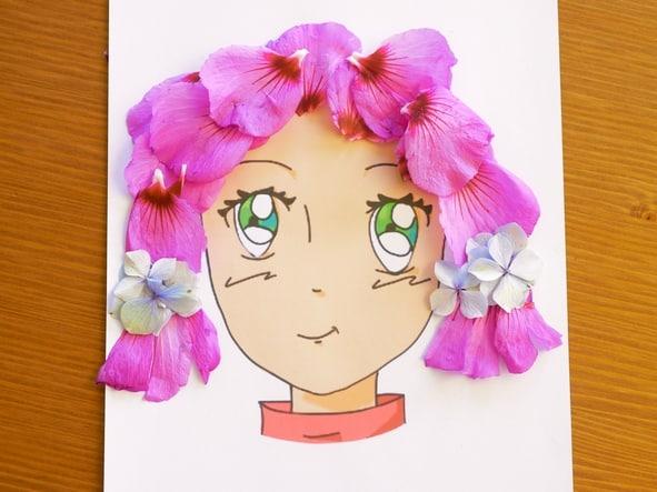 cheveux fleurs hibiscus